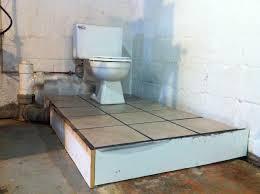 installing a basement bathroom. A Basement Bathroom Renovation Merrypad Installing