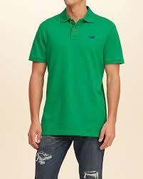 hollister stretch pique short sleeve polo men green 89634slkw hollister dresses official uk stockists