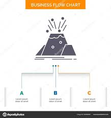Volcano Chart Disaster Eruption Volcano Alert Safety Business Flow Chart