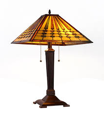 chadrick mission tiffany stained glass 2 light table lamp