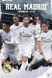 العربية vuelve #jugadorcincoestrellas del @realmadrid. Real Madrid 2019 2020 Team Action Poster Sold At Europosters
