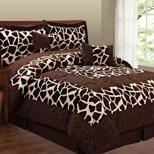 fashion st 6 piece micro suede animal print bedding set