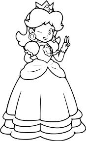 Coloriage Princesse Daisy Imprimer