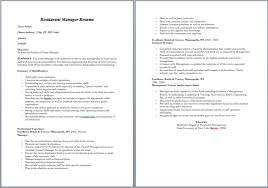 Restaurant Resume Beauteous 44 Free Restaurant Manager Resume Samples Sample Resumes