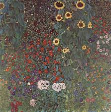 country garden with sunflowers 1906 gustav klimt size 110x110 cm um oil