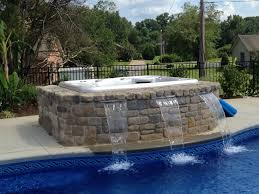 inground pools with waterfalls and hot tubs. Inground Pools With Waterfalls And Hot Tubs Round Designs
