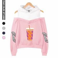 New Charli Damelio Merch Hoodie Sweatshirt Off shoulder Women Teens Girls  Charlie Damelio Merch Juice Print Fashion Pullovers|Hoodies & Sweatshirts