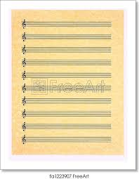 Print Out Blank Music Sheet Free Art Print Of Blank Music Sheet 3 Treble Clef