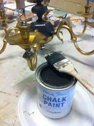 painting a brass chandelier