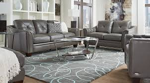 grey leather furniture. Cindy Crawford Home Marcella Gray Leather Pc Living Room Rooms Throughout Grey Furniture