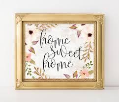 printable wall art home sweet home