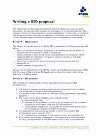 Bid Proposal Letter Proposal Letter Format Doc New Business Bid Proposal Template