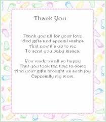 Thank You Cards Baby Shower Thank You Poems From Baby I Know I Already Pinned This But Cant