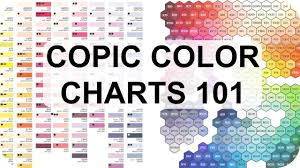 For example, #0000ff is displayed as blue, because the blue component is set to its highest value (ff) and the others are set to 00. Copic Color Charts Why They Re Useful Featuring Hex Chart Youtube