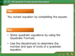 then now you solved equation by completing the square