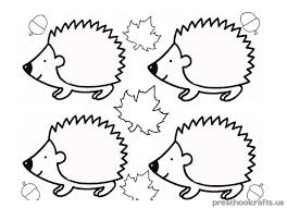 Small Picture hedgehog coloring pages for kindergarten Preschool Crafts