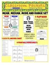 Mean Median Mode Anchor Chart Mean Median Mode Range Anchor Chart Worksheets Teaching