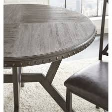steve silver alamo gray round dining table the cly home
