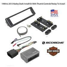 harley radio motorcycle parts 98 2013 harley touring radio install adapter thumb control dash kit stereo cd