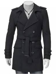 latest turn down collar epaulet design double ted long sleeve woolen coat for men
