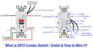 how to wire gfci combo switch & outlet Outlet Wiring Design Electric Outlet Wiring