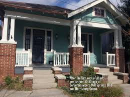 blue exterior paintThe Reveal exterior paint job  NOLA Kim