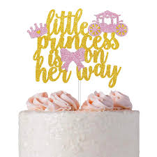 Little Princess Cake Topper For Princess Theme Baby Shower Gender