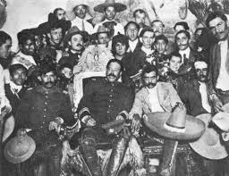 uncovering the truth behind the myth of pancho villa movie star  pancho villa seated in the presidential chair and emiliano zapata seated right behind sombrero in the national palace in city 1914