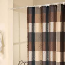 Blue And Tan Striped Shower Curtain \u2022 Shower Curtains Design