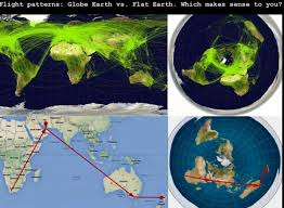 Flat Earth Flight Patterns