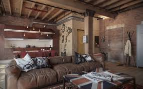 charming eclectic living room ideas. Gorgeous Eclectic Bachelor Retreat Design Fresh At Dining Table Charming Modern Concept Loft Apartment Brick Living Room Ideas