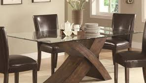 set glass and oak square round table chairs tables dining base rectangle top small modern oval