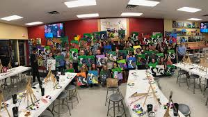 in october the dallas employees of munsch hardt showed off their creative talents at painting
