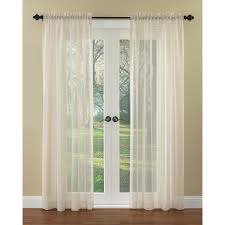 Waverly Breeze 84-in Ivory Polyester Rod Pocket Sheer Single Curtain Panel