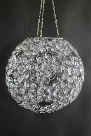 chandelier or table decor ayanna crystal beaded sphere 9 diameter