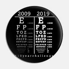 Hilarious Hash Tag 10 Year Challenge 2009 Better Eye Vision Versus 2019 Poor Eye Vision Funny Ophthalmologist Eye Chart Design Gift Idea