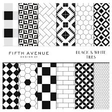 Black And White Patterns Fascinating Black White Tiles Digital Paper Graphic Patterns Creative Market
