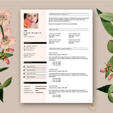 fashion resume templates resume template feminine resume and free cover  letter template .