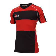 rugby shirt style c blackredwhite front