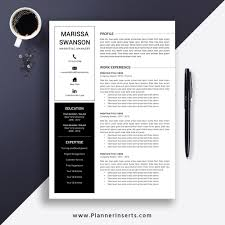Resume Modern Format 033 Professional Clean Resume Template Cover Letter Office