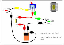 science for school home this circuit swaps which led is on as you toggle the switch