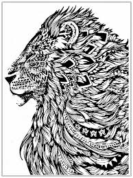 Free Lion Coloring Pages For Adult Cool Coloring Pages Free