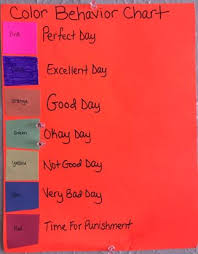 Color Behavior Chart For Kids Color Behavior Chart Chore Chart For Kids Jackie Balla