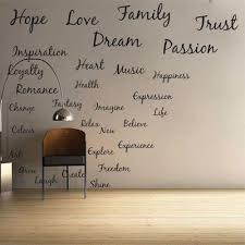 Dream Hope Quotes Best of Hope Love Family Dream Family Vinyl Wall Decal Art Sticker Quote