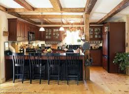 rustic french country kitchens. Interesting Kitchens Rustic French Country Kitchen L Shaped Brown Finish Solid Oak Wood Cabinet  Brushed Pulls Handle In Kitchens E