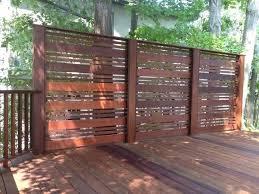 wood privacy screen designs ipe deck