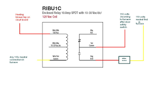 ribu1c relay wiring diagram ribu1c wiring diagrams online how to wire an inline duct fan to main furnace blower