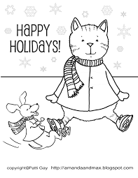 Small Picture Happy Holidays Coloring Pages Pages Within glumme