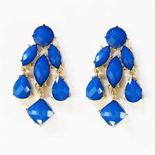 chandelier earrings blue statement drop earrings in gold tone blue chandelier earrings