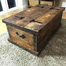 rustic trunk coffee table awesome used mexican pine